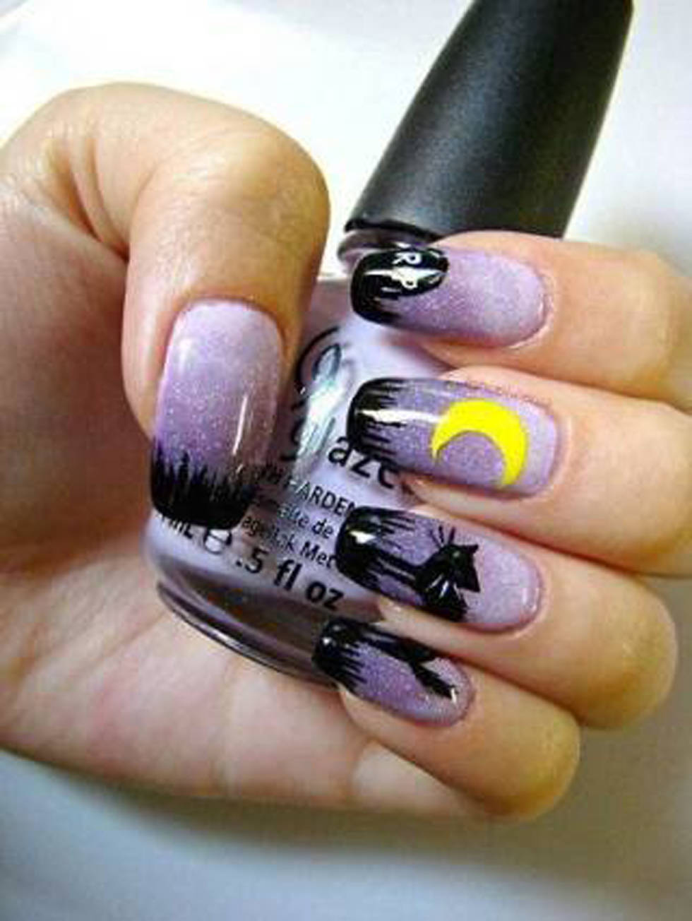 1-Purple-halloween-nails