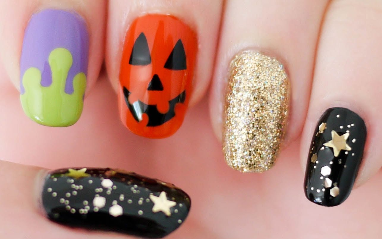 halloween nail designs 2016